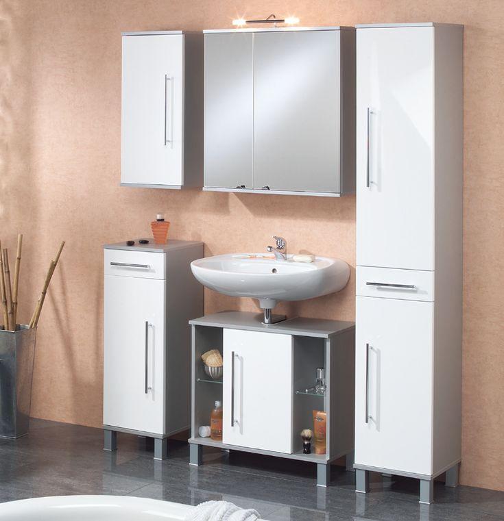 Die besten 25+ Badezimmer 5 tlg Ideen auf Pinterest Badideen - badezimmermöbel weiß hochglanz