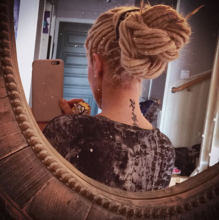 This is monika, I made her dreadlocks a few weeks ago, she sent me this lovley pic of a dreadlock bun she did after looking at one of my tutorials: http://youtu.be/qN2-QR2Ym6Q Do you have pics of hairstyles that you have done after our tutorias, or showing off our dreadstuff or our dreadlocks? We would love to share them here ! Email or direkt message us!