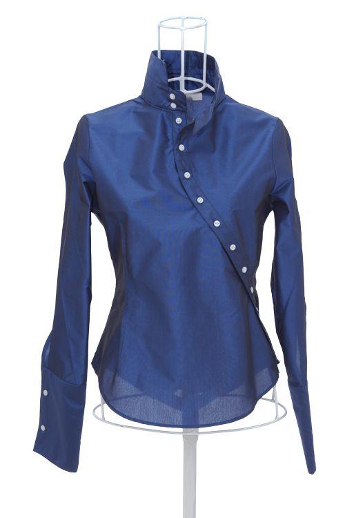 Chemisier chic bleu Ken Okada http://shop.ken-okada.com/fr/5-okada-chic-chemise-femme-chic-soie