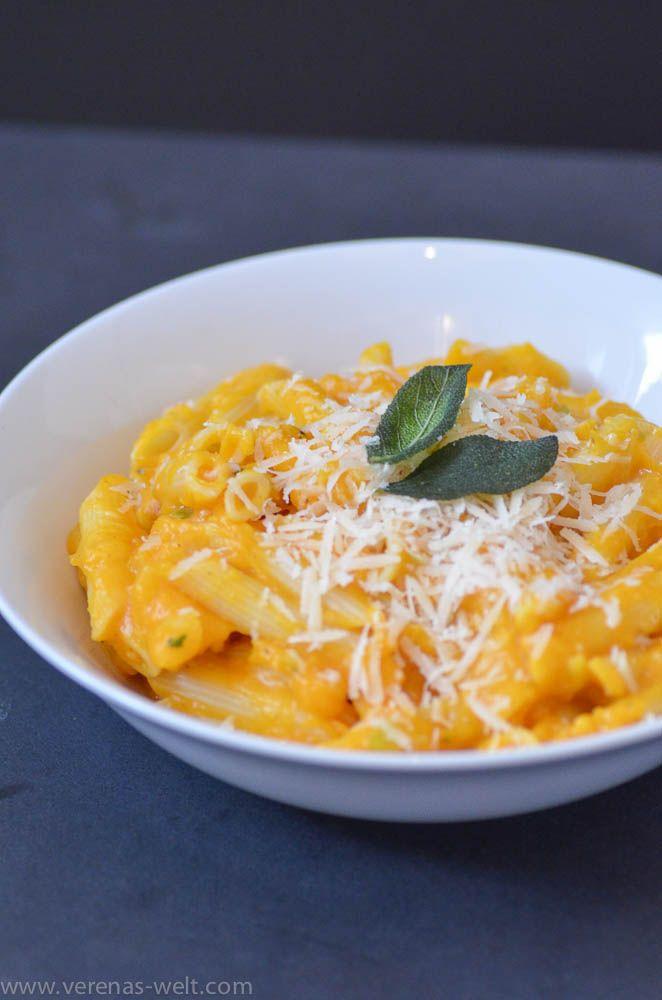 Cremige Butternusskürbis-Pasta mit Salbei - ° Verenas Welt °° Verenas Welt °