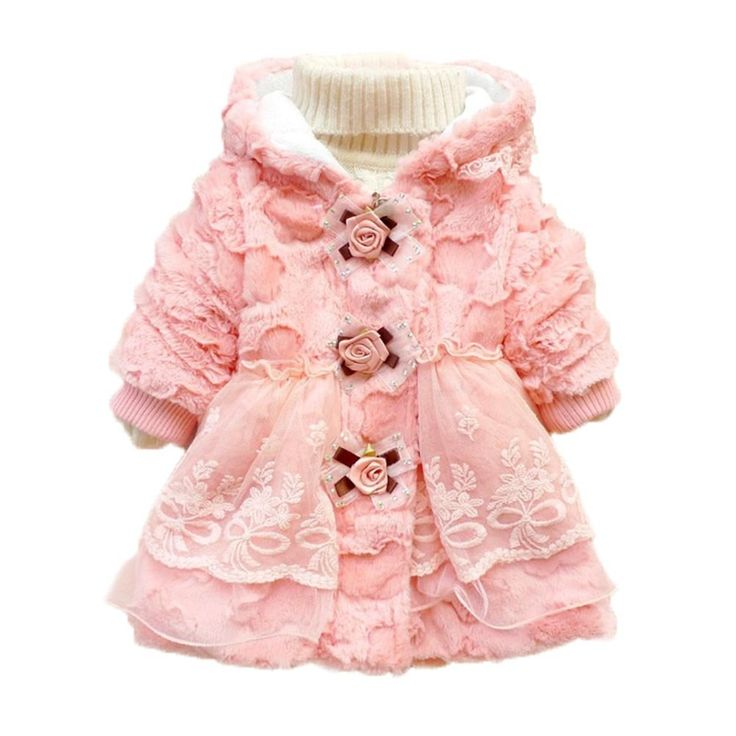 Amazon Com Toddler Kids Baby Girl Faux Fur Coat Outwear