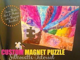 Silhouette School: DIY Custom Puzzle Magnet: Silhouette Tutorial