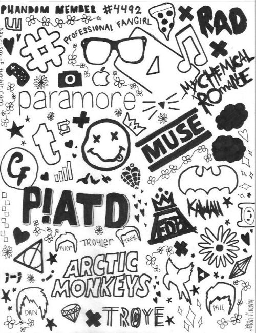 Fall Out Boy Logo Iphone Wallpaper Fall Out Troye Tumblr Doodle Art Doodle Art Drawing