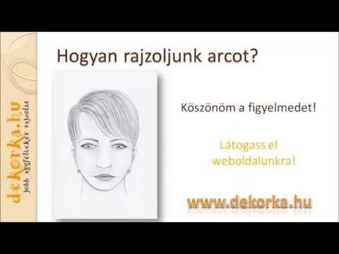 Hogyan rajzoljunk arcot - Dekorka Rajziskola 01. - YouTube