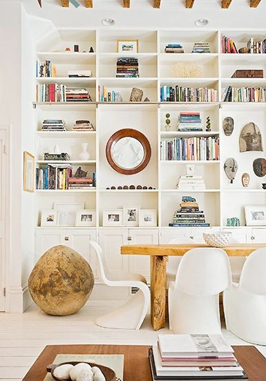 15 Lovely Libraries in Unexpected Places // dining room bookcase: