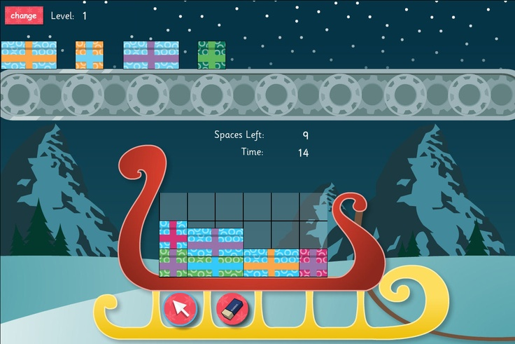 Stack the presents on the sleigh.  The popular 12 Games of Christmas are now free on TES iboard. Stack the presents. Make sure you pick the right ones to fill Santa's sleigh!