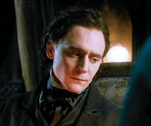 #TomHiddleston in Crimson Peak, 2015.   *SPOILER ALERT: Still not over with how a knife can actually cut through those cheekbones. Like the knife should've broken on contact*