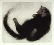Ola Steen - kunstner - grafikk - katter