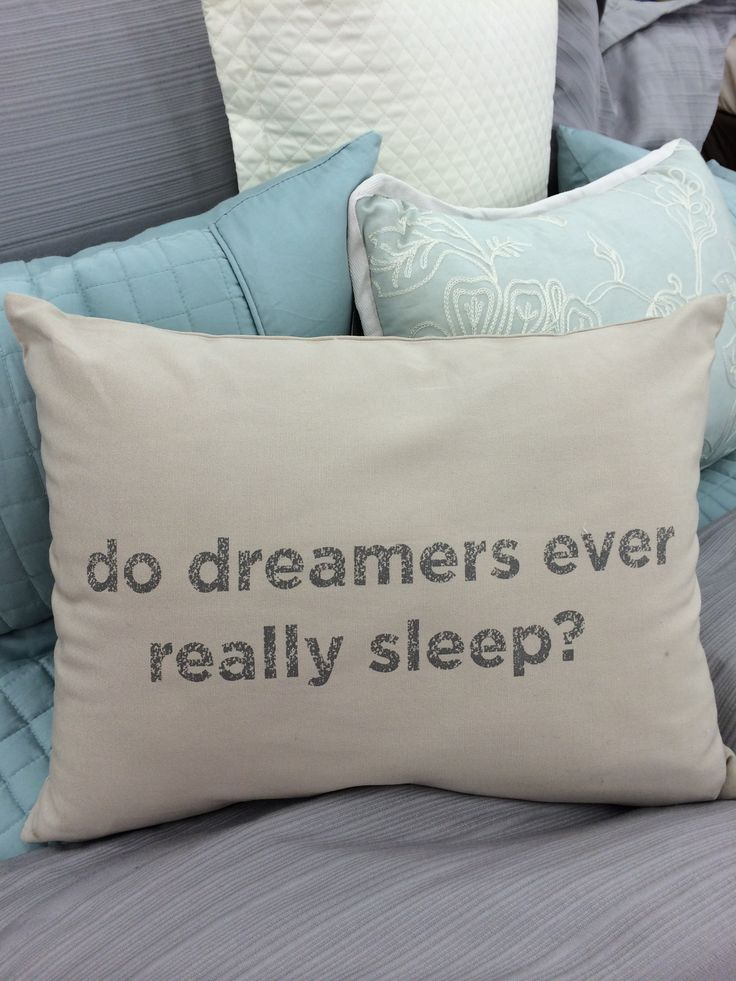 Do Dreamers Ever Really Sleep Pillow Kenneth Cole