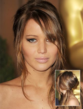 Bardot-inspired French twist - pin hair into a twist, pull the ends to the side to create a makeshift pony
