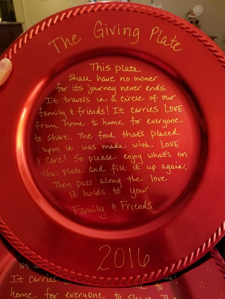 The Giving Plate - hospitality gift. Perfect filled with cookies or other goodies!