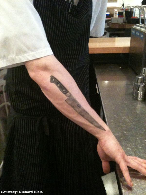You have (or you've seriously considered) a chef's knife or whisk tattoo.