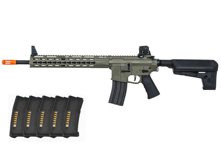 Krytac Trident MK2 M4 SPR AEG Airsoft Gun PTS EPM Reload Bundle ( Foliage )