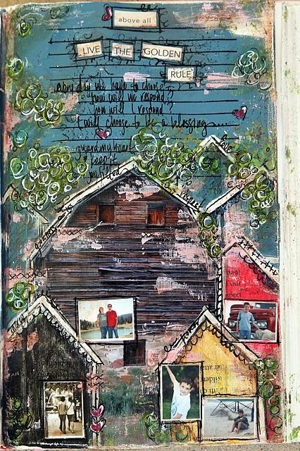 julie art journal page