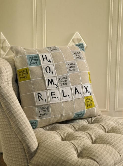 Scrabble Felt cushion gift idea