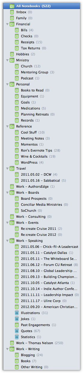 If you want to get the most out of Evernote you need to take advantage of using notebooks, stacks, and tags.