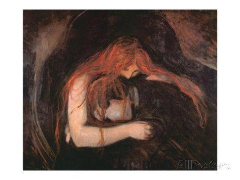 The Vampire print by Edvard Munch