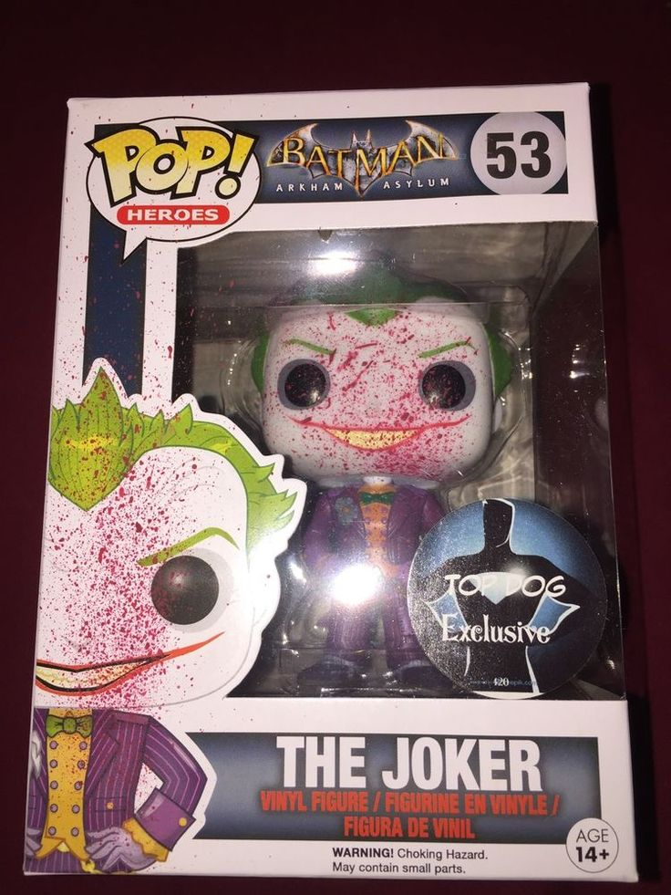Funko POP! Batman Arkham Asylum Video Game Joker #53 Custom Blood Splatter #Funko