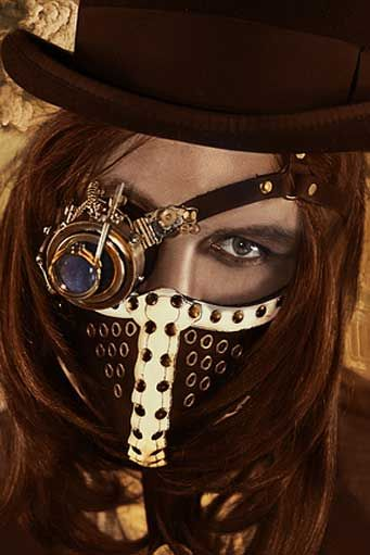 A nice mysterious look I could use, but it looks a little scary 0_o #steampunkfashion#steampunkclothing #coupon code nicesup123 gets 25% off at  Provestra.com Skinception.com