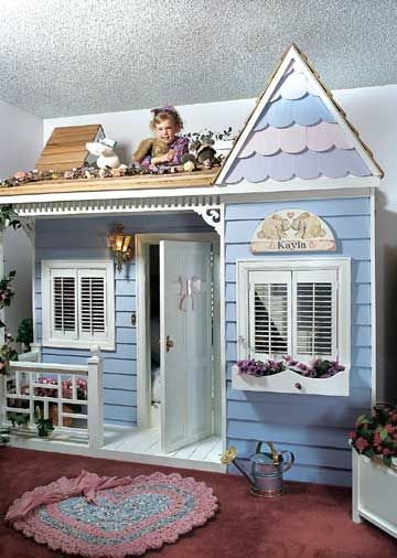 A Doll's House  Makes me want to build a similar bed for the kids since they are supposed to be sharing a room. Their room is small though.