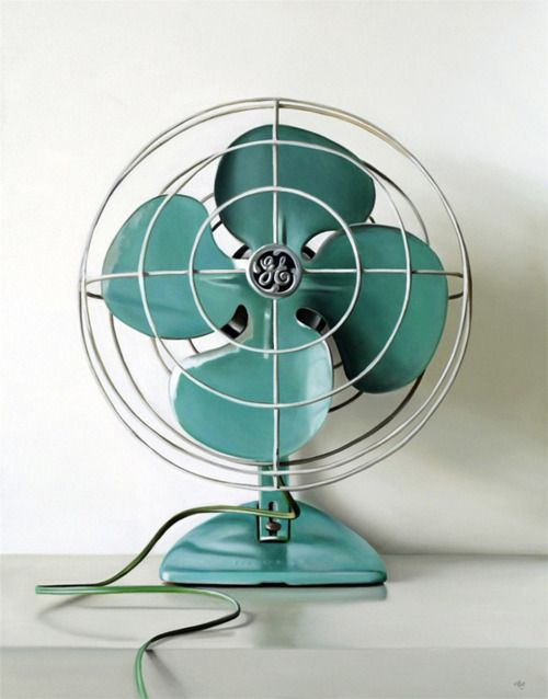 Remember these fans with metal blades, and you could stick your fingers in?  Living dangerously!