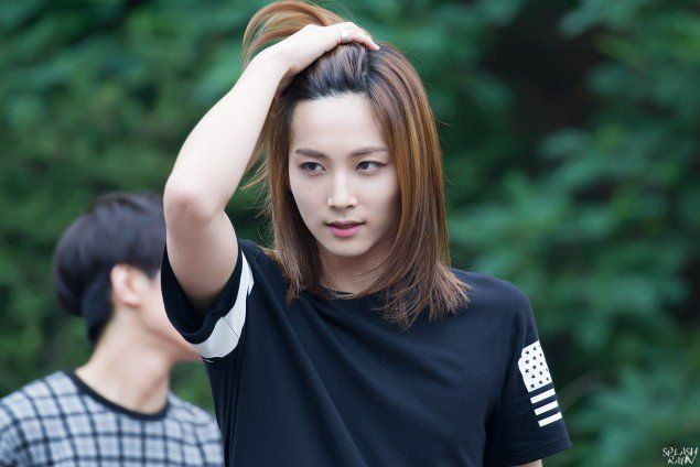 18 Male K Pop Idols Who Can Pull Off Long Hair Long Hair Styles Long Hair Styles Men Boys Long Hairstyles