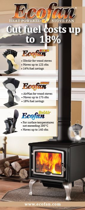 Ecofan--non-electrical fan for wood-burning stoves