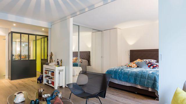 Petit appartement et studio parisien nos plus belles for Amenager un garage en appartement