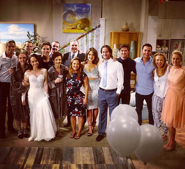 Nice little cast shot... Couldn't round everyone up though. Who is missing? #Neighbours