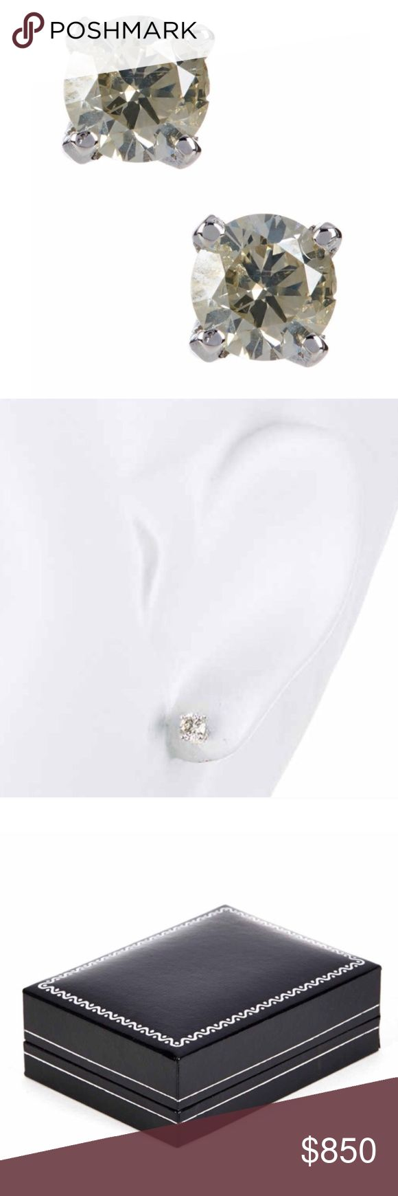 1 carat diamond earring studs. Diamond earring stud solitaire earrings that amount to 1 carat total weight. See original listing for all extra details. Sterling silver posts. Jewelry Earrings