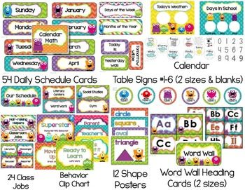 Monster Classroom Theme Pack {Editable}