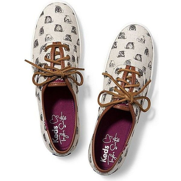 Keds Taylor Swift's Champion Teacup Print (2,495 DOP) ❤ liked on Polyvore featuring shoes, sneakers, teacup natural, keds shoes, lacing sneakers, lace up shoes, keds sneakers and print shoes