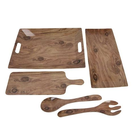 Photo Real Wood Serving Pieces