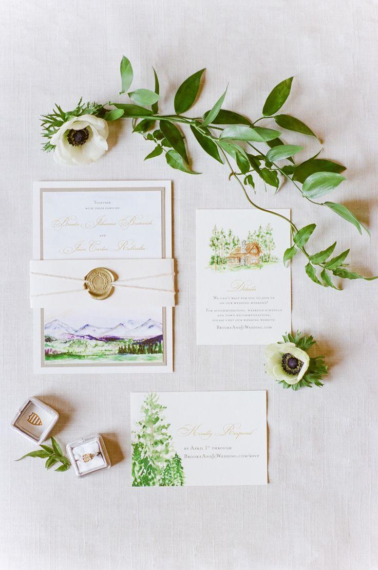 Greenery wedding stationery | Photography: Tamara Gruner