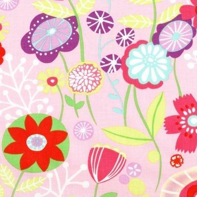 Alexander Henry Kaori Floral Pastel Pink Remnant