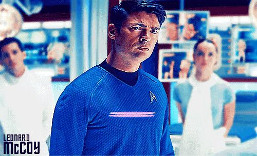 "Oh that EyeBrow! » Karl Urban - Leonard ""Bones"" McCoy! (,gif)"
