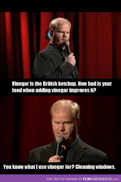Jim Gaffigan on British food