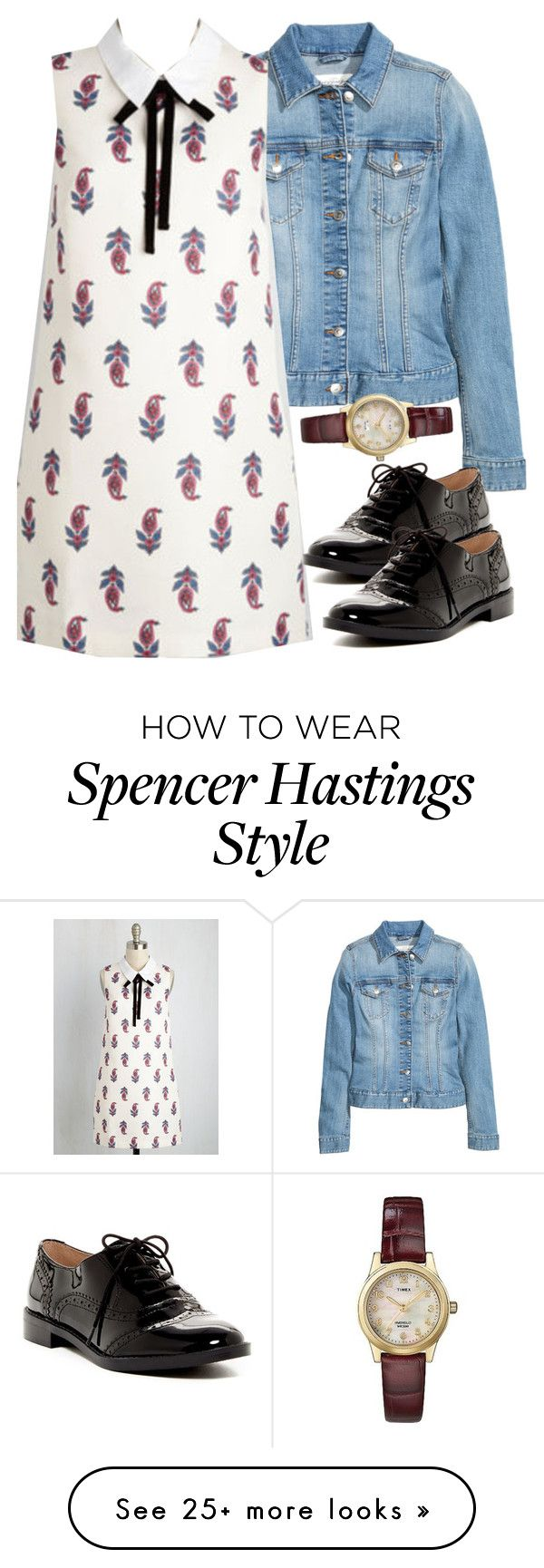 """""""Spencer Hastings inspired outfit with requested dress"""" by liarsstyle on Polyvore featuring H&M, Franco Sarto and Timex"""