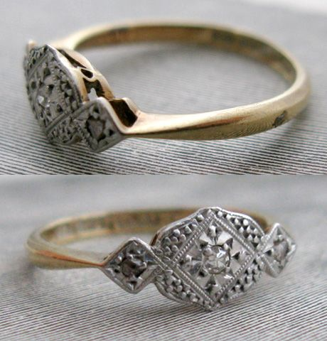 vintage, ring, anello