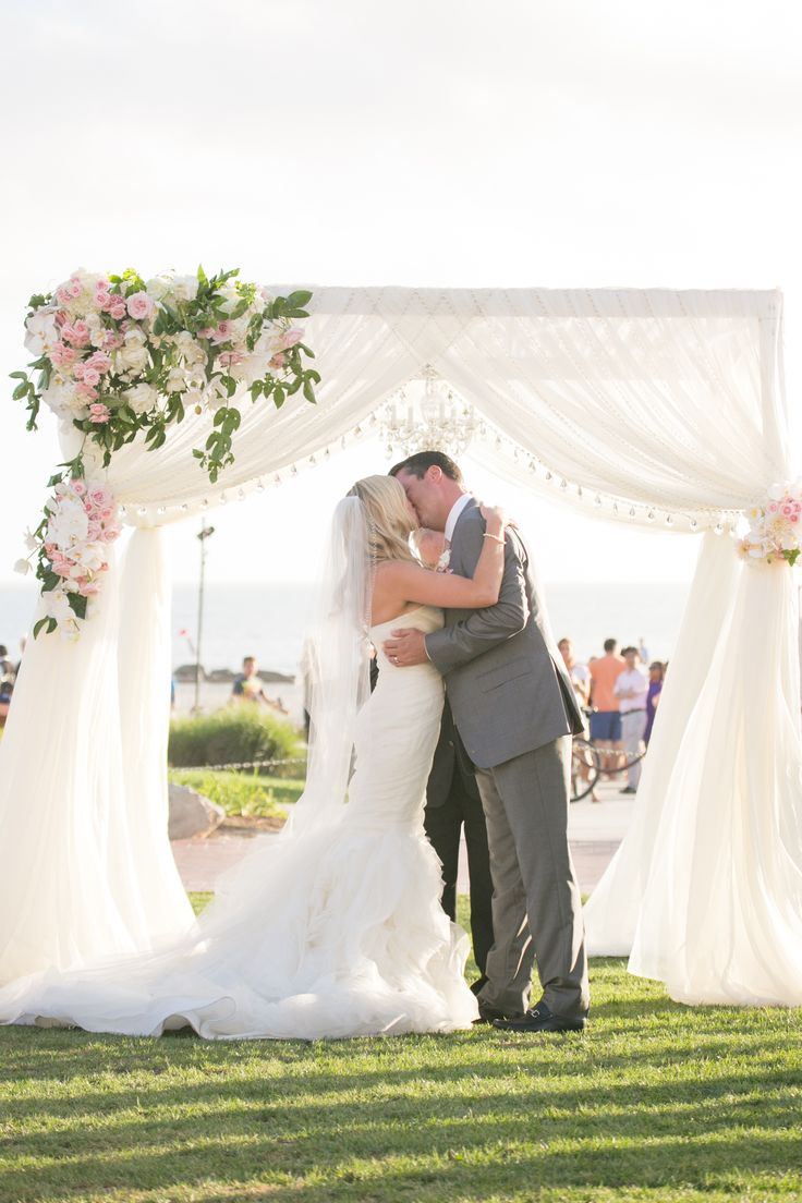like the chandelier inside the chuppah and like the simple draping
