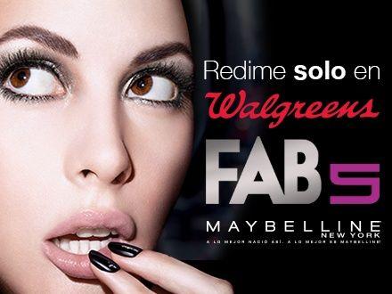 ¡FAB 5! Gustazo GRATIS para comprar hasta 5 productos Maybelline a solo $3 cada uno