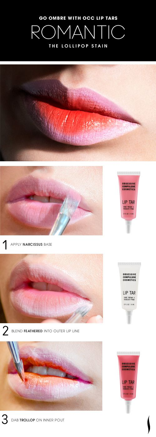 The Romantic Lollipop Lip Stain HOW TO #OCC #Sephora #makeup #ombre
