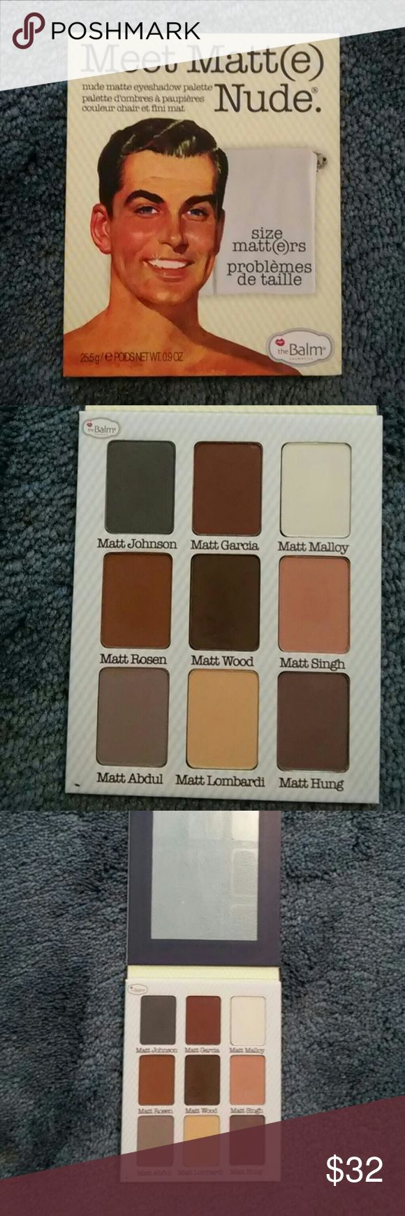 Meet matte palette Unused. Two colors swatched. the balm Makeup Eyeshadow