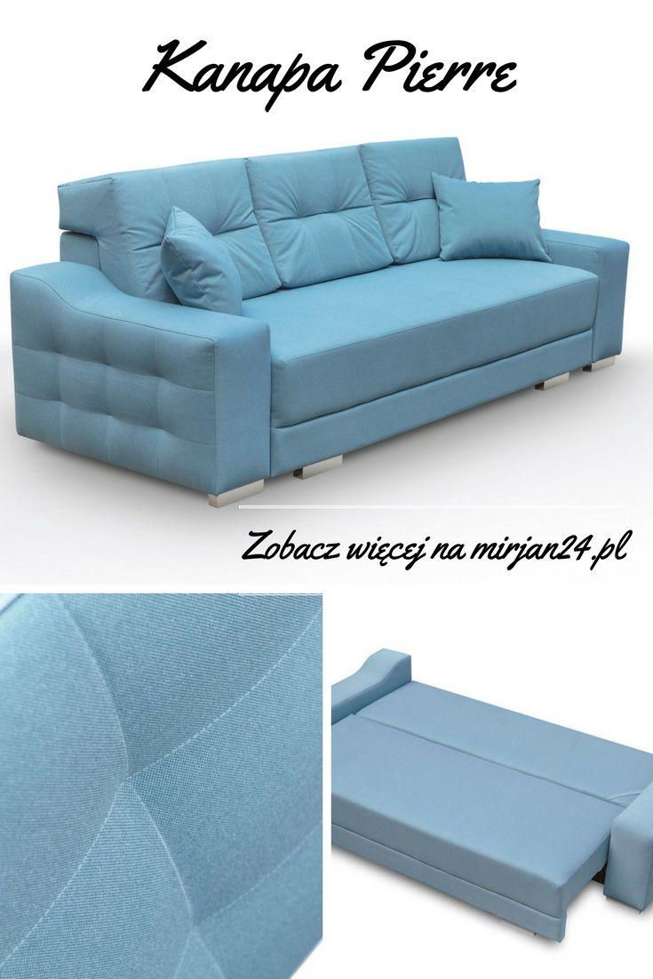Couch Pierre has a function of the bed and a blanket box. Check possibilities for her! Go to mirjan24.pl Kanapa Pierre posiada funkcję spania i pojemnik na pościel. Sprawdź jej możliwości! Wejdź na mirjan24.pl #kanapa #couch #bluecouch #kanapapikowana #funkcjaspania #łóżko #bed #spokojnysen #mirjan24 #nowoczesnemeble #modernfuniture