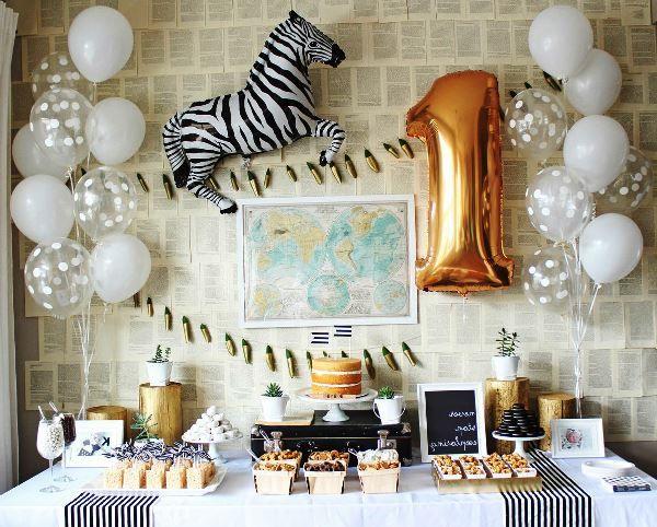 оформление шарами на день рождения фото