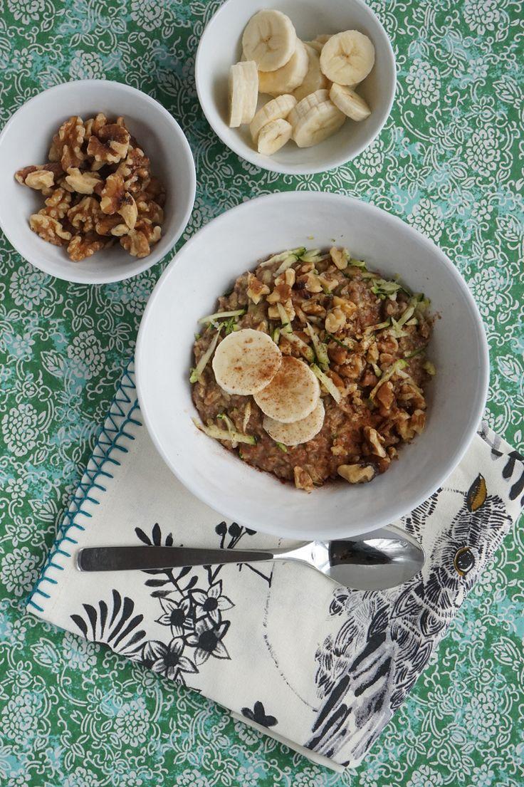 11. Zucchini Bread Oatmeal #healthy #breakfast #recipes http://greatist.com/health/healthy-fast-breakfast-recipes