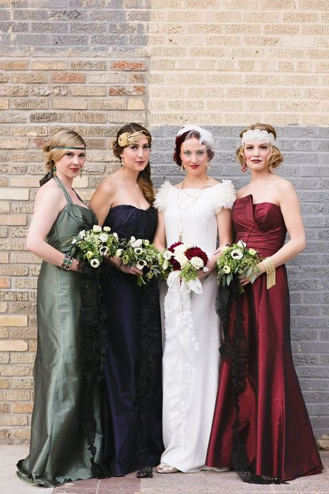 Fall wedding season is close and it's time to pay attention to bold and passionate colors, so today I've prepared a roundup with bright jewel-toned bridesmaids' gowns.