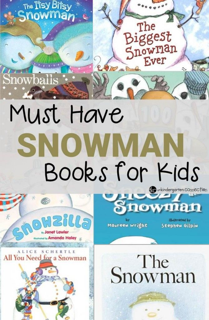 Must Have Snowman Books for Kids - The Kindergarten Connection