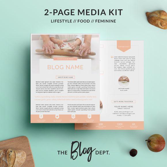 Mejores 11 imágenes de Media Kit Templates en Pinterest | Plantillas ...