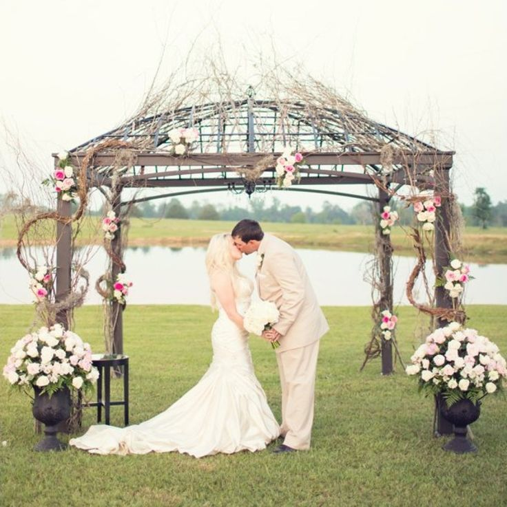100 Ideas for Spring Weddings Ceremony Décor Dress up a rustic canopy with seasonal blooms. & 57 best Wedding Ceremony Flowers images on Pinterest ...